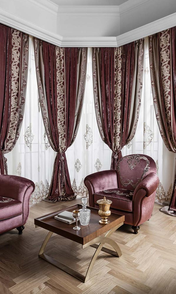 Комплект штор с вышивкой