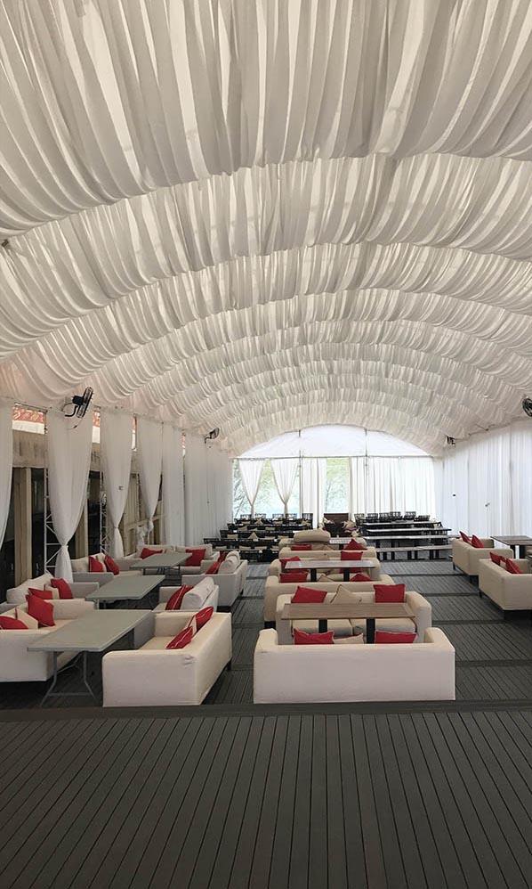 Оформление шатров текстилем